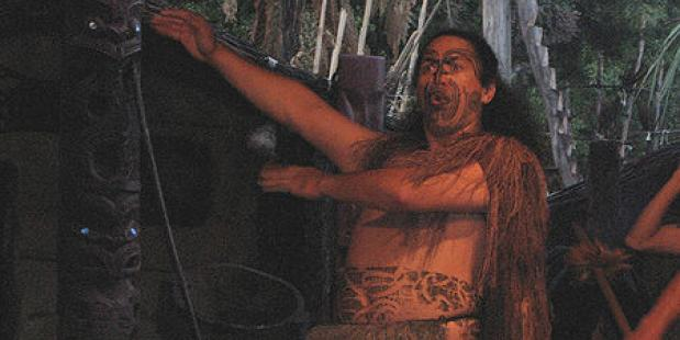 Flickr Haka,Ranveig Thattai. JSilver. One of the Maori warriors at Mitai performs the haka