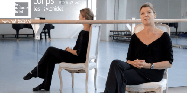 Beeldstil Rachel Beaujean via YouTube. Ze vertelt over Les Sylphides van het Nationale Ballet.