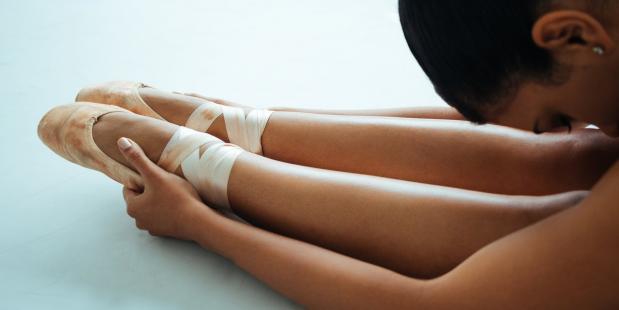 Ballerina met spitzen