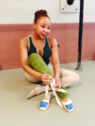 Ballerina Saveaya Sharon Osborne @ Ballet Arts studio in New York City by Meeke Mutter