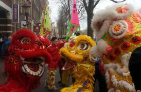 Leeuwendans voor Chinese Nieuwjaar