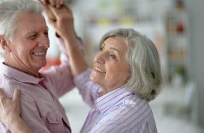 Dansen maakt ook op de oude dag nog gelukkig.