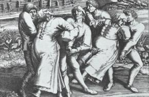 Dansmanie Sint-Jans Molenbeek-gravure van Hendrick Hondius