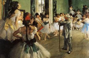 La classe de danse (De balletklas). Bron: Wikimedia Commons