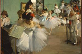 La classe de danse van Edgar Degas. Foto via het publieke domein