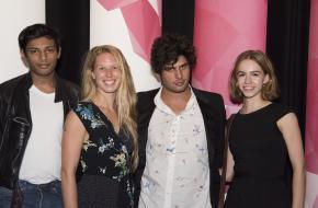 Genomineerden Piket Kunstprijzen. Julien Guettab, Claire Hermans, Mattia Papp en Juul van Helvoirt. Foto Janneke van Beek