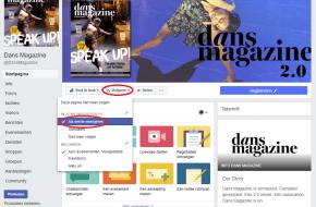 Like de Facebookpagina van Dans Magazine