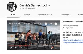 YouTube-kanaal Saskia's Dansschool verwelkomt 5-miljoenste lid