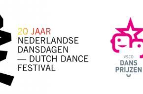 Logo Nederlandse Dansdagen en Vereniging voor Schouwburg- en Concertgebouwdirecties (VSCD)