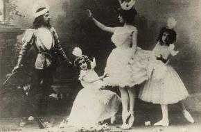 Odette, Siegfried en twee zwanen (Bolsjojtheater, 1901)